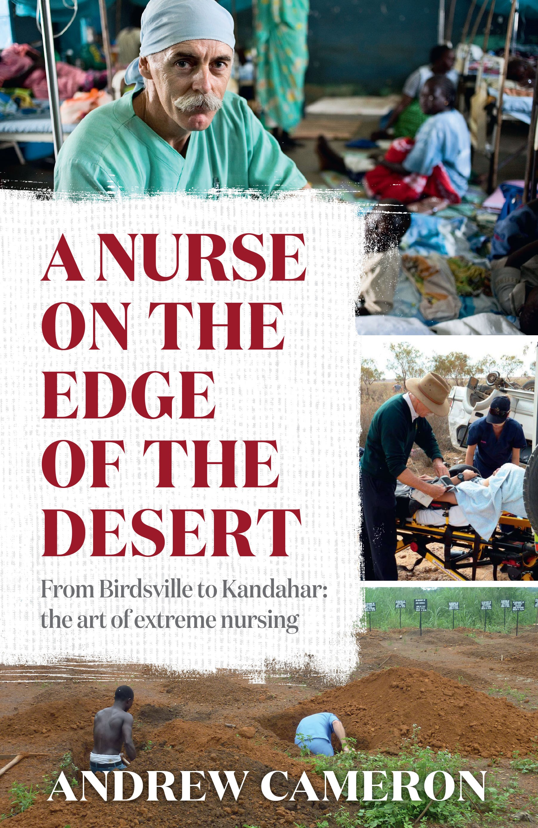book cover for A Nurse on the Edge of the Desert