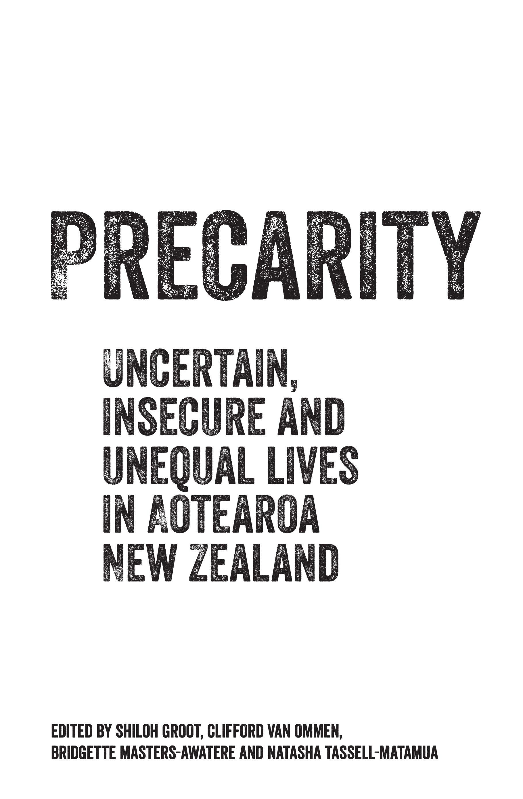 book cover for Precarity