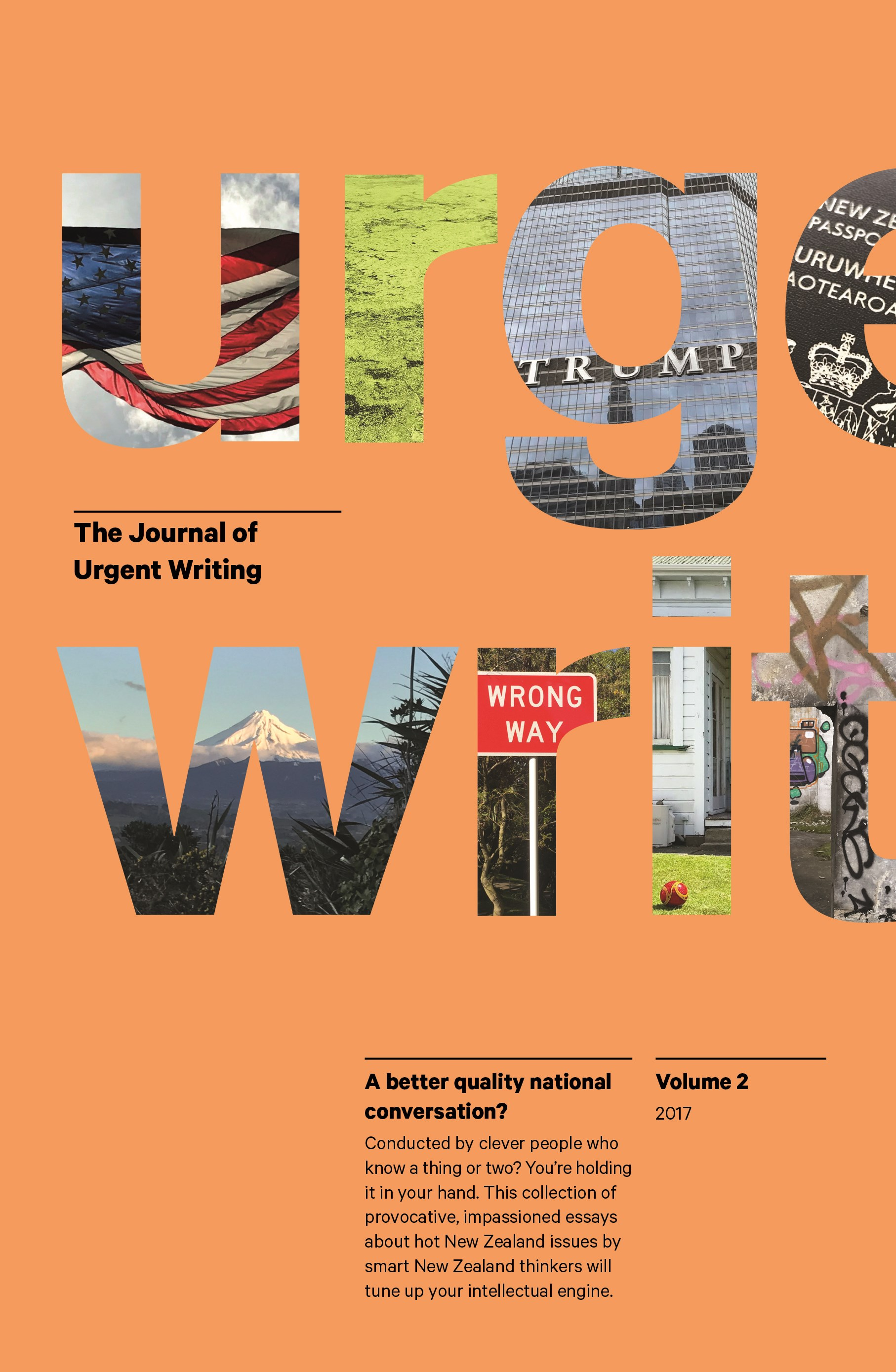 book cover for The Journal of Urgent Writing 2017