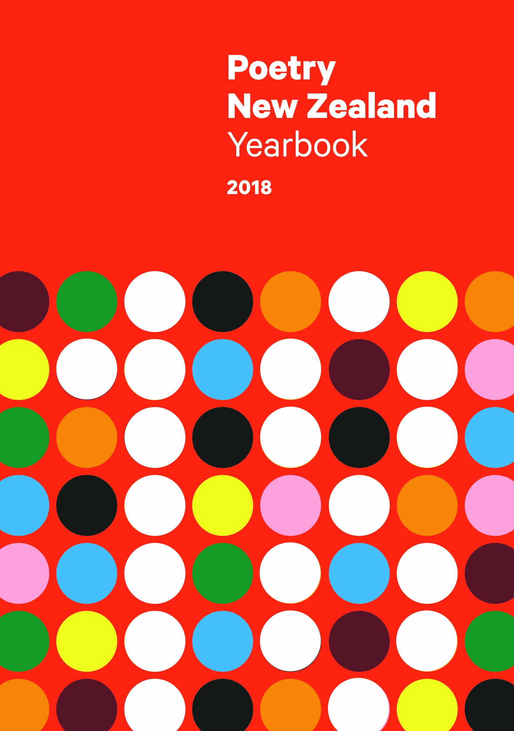 Poetry New Zealand Yearbook 2018 Massey University Press