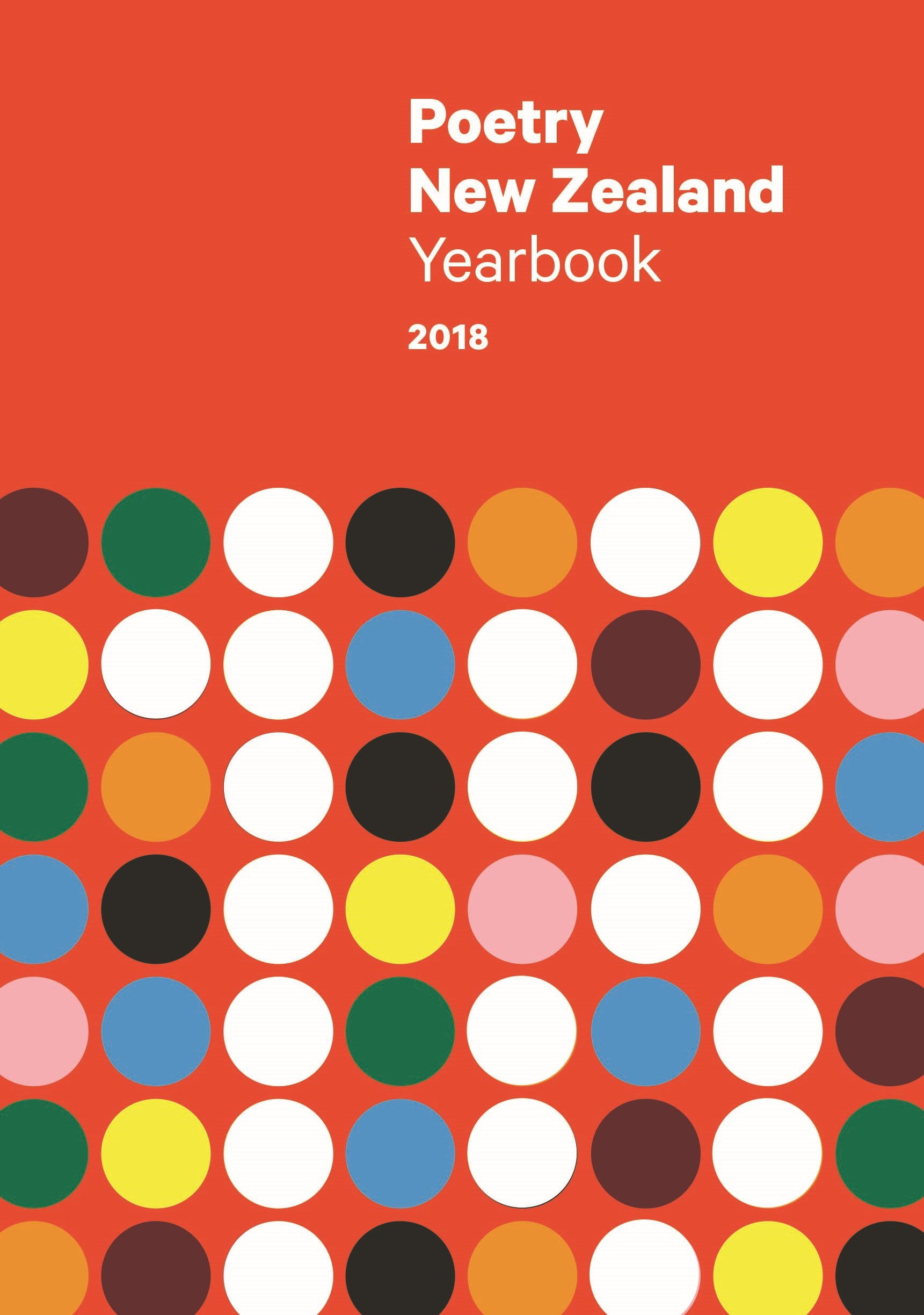 book cover for Poetry New Zealand Yearbook 2018